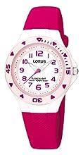 Lorus Fille Analogique Quartz Montre avec Bracelet en Silicone R2339DX9