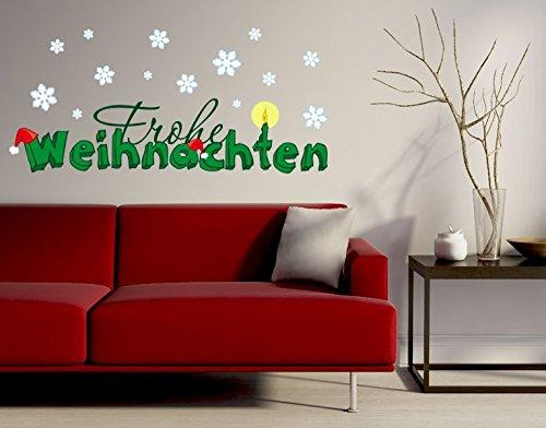 Preisvergleich Produktbild Klebefieber Wandsticker Frohe Weihnachten B x H: 110cm x 35cm