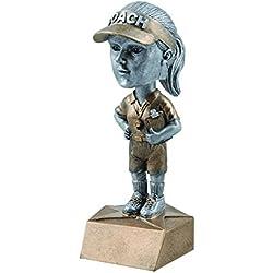 Female coach Bobblehead premio trofeo–Bobble Head–fútbol–Tenis–críquet