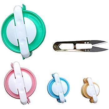 c3b17fe5fd3 Pompom Maker Kit – 4 Sizes Pom Pom Making Tool Set with Small Scissors
