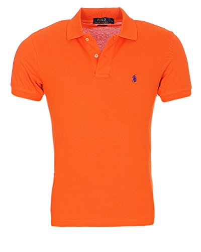 Ralph Lauren Polo Herren Poloshirt SMALL Pony Custom FIT S-M-L-XL-XXL, Original, Outletware, Größe:XXL, Farbe:Orange