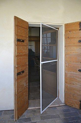 VERDELOOK Zanzariera per Porta a Battente, Dimensioni 150x240 cm, Colore Marrone