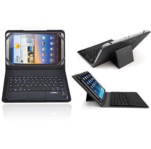 LEDELI Bluetooth Wireless QWERTZ deutsche Tastatur Keyboard mit Schutzhülle Case Cover Tasche Hülle Etui (für Huawei MediaPad M1 8.0)