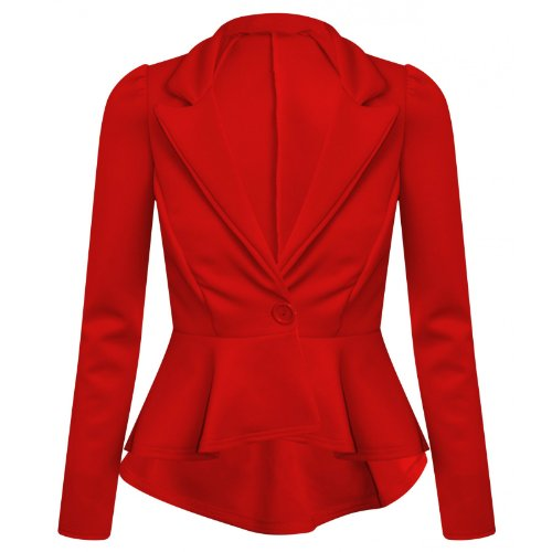 Fashion 4 Less - Blouson -  - Manches longues Femme Rouge - Rouge