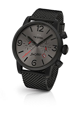 19d6592931 TW Steel Men's Analog Quartz Watch with Stainless-Steel Strap MST4
