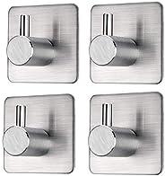 TGTP Adhesive Hooks Duty Stick on Towel Hooks Wall Hooks Hangers for Hanging Bathroom Kitchen Door Closet Cabi