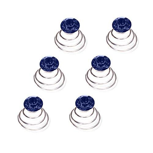 Autiga Haar Curlies Kristall Haarspiralen Haarcurlies Hochzeit Braut Haarschmuck versilbert Kommunion blau 12er Set