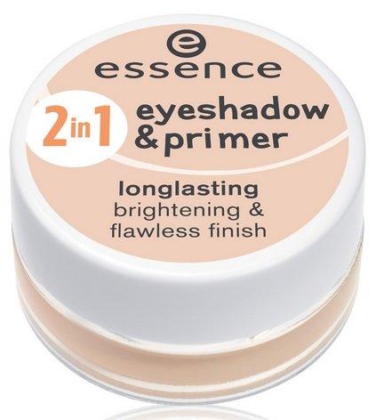 Essence 2in1 eyeshadow & primer longlasting brightening & flawless finish Nr. 02 nude rosé Inhalt: 5g Lidschattengrundierung.