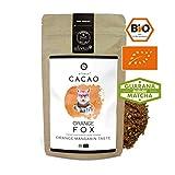 alveus® Cacao BIO Foxy Orange - Kakaomischung mit Kakaopulver, Kokosblütenzucker, Guarana, natürliches Aroma, grünem Tee & Matcha, 125g Tüte
