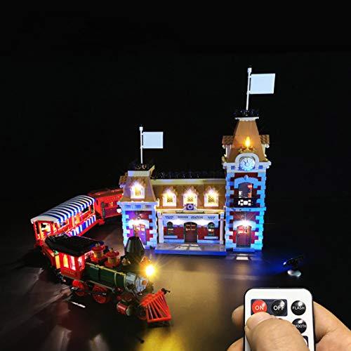 Tosbess Jeu De Lumières à LED Kit déclairage Compatible avec Lego 71044 Disney Train and Station (Lego Modèle Non Inclus)