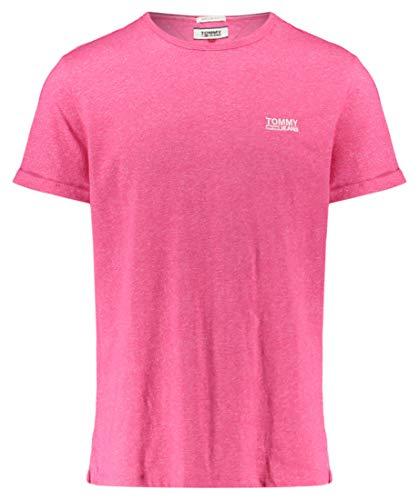 Tommy Jeans Herren T-Shirt Modern Jaspe Tee Regular Fit pink (71) L