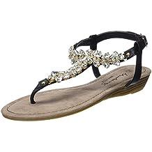 Mustang 1274-802 Schuhe Damen Zehentrenner Sandaletten