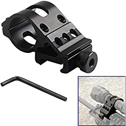 WEREWOLVES Airsoft Ring Rail Mount Offset Ring Side Gun Antorcha Mount para Linterna Laser/Rifle Scope Mount Fit 20mm Rail HT2-0002