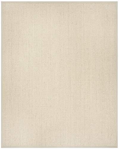 Safavieh Kollektion Natural Faser nf475C handgewebt Hellgrau Wolle & Sisal Teppich Bereich 2'6