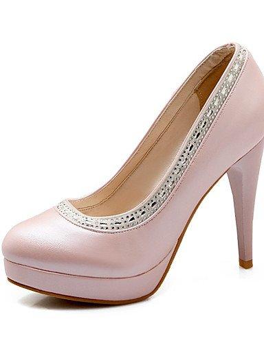 WSS 2016 Chaussures Femme-Mariage / Habillé / Décontracté / Soirée & Evénement-Bleu / Rose / Blanc-Talon Aiguille-Talons-Talons-Similicuir blue-us6.5-7 / eu37 / uk4.5-5 / cn37