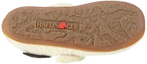 Haflinger Model, Chaussons courts, non doublées fille Blanc - Weiß (53 rohweiß)