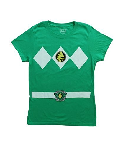 Power Rangers grün Ranger Kostüm grün Junior T-Shirt (Junior - Power Rangers Kostüm Frauen