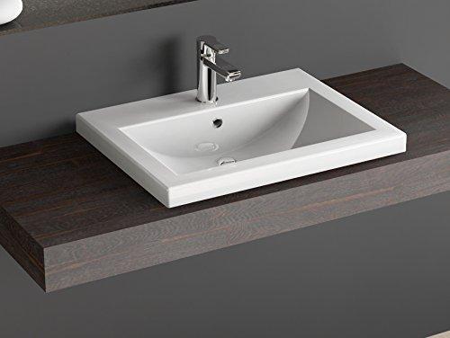 Aqua Bagno KS.60.02 Design Waschbecken/Aufsatzbecken 60x46cm Keramik weiß Waschtisch.Waschschale (Keramik-sortiment Whirlpool)
