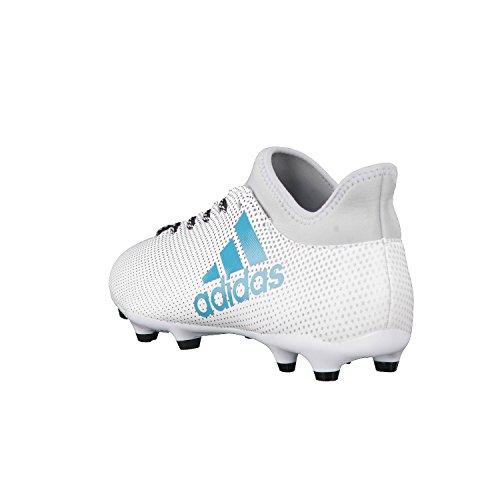 adidas Herren X 17.3 Fg Fußballschuhe Blau (Footwear White/Energy Blue/Clear Grey)