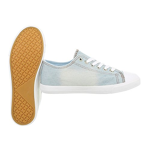 Chaussures Femme Baskets Sneakers Basses Ital-design Lumière Bleue R08