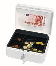 Wedo 145200H Caissette à monnaie à 5 compartiments avec clip 20 x 16 x 9 cm Blanc