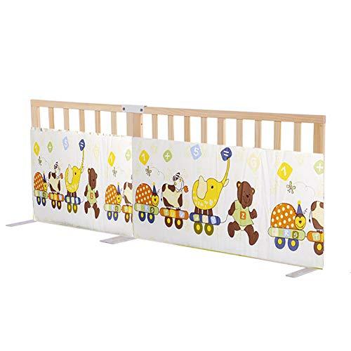Barrière de lit Barrière Incassable en Bois Massif pour Enfants Universelle pour Bébé, 1 Côté, 1,5 M / 1,8 M / 2 M (Taille : 1.5m)