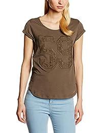 Stefanel T-SHIRT JERSEY N. 59 MACRAME - T-shirt - Femme