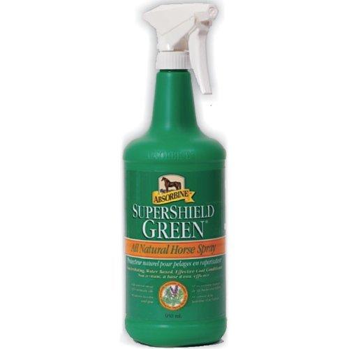 Absorbine SuperShield Green, Fliegenspray für Pferde, 946ml - Natürliche Alternative in der Fliegenabwehr