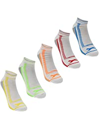 5 Pack Mens Stretchy Seamless Poly Trainer Socks