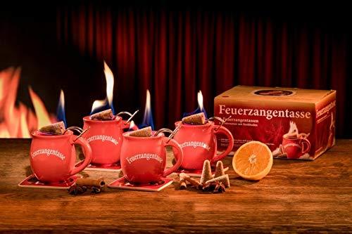 Feuerzangentasse 4er-Set rot - smart