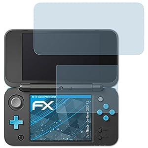 atFoliX Displayschutzfolie für Nintendo New 2DS XL Schutzfolie – 3er Set FX-Clear kristallklare Folie