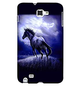 Fuson Premium Wild Horse Printed Hard Plastic Back Case Cover for Samsung Galaxy Note 1 i9220 N7000