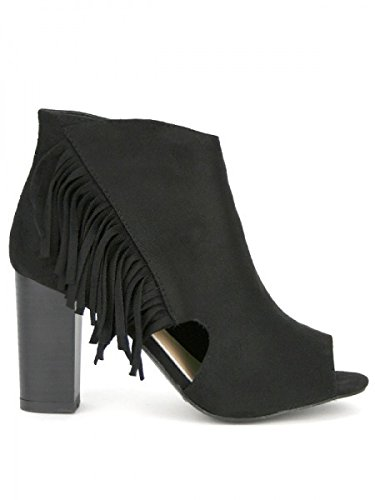 Cendriyon, Low Sandale peau cuir LUISA Chaussures Femme Noir
