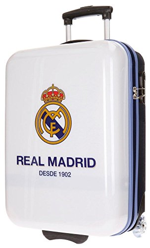 Real Madrid Club Equipaje Infantil, 55 cm, 34 Litros, Blanco