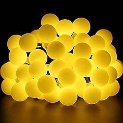 Guirnalda de Luces, 40 LEDs Blanco cálido, 8 Modos de Iluminación