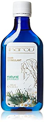 Hair Stimulant for Growth & Strength - With Essential Oils - Bergamont, Ylang Ylang, Lavender - 125ml by Ikarov