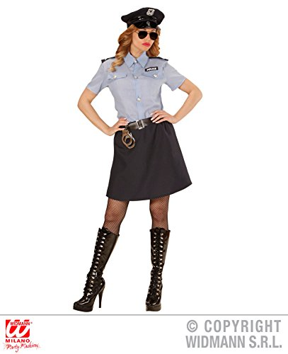 Cop Uniform Kostüme (KOSTÜM - POLICE GIRL - Größe 42/44 (L), Uniform Polizistin Cop New York)