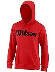 Wilson Sport Mens 2018 Script Pullover Hoody - Red/Black - L