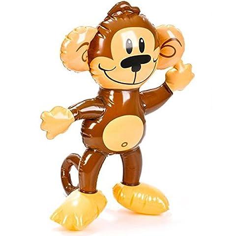 German Trendseller® - singe gonflable ┃party animal ┃50 cm ┃ l'anniversaire d'enfant ┃jeu de piscine