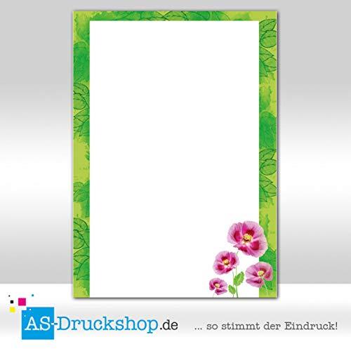 Designpapier Frühling - Rahmen aus Blumen / 100 Blatt/DIN A5 / 90 g-Offsetpapier