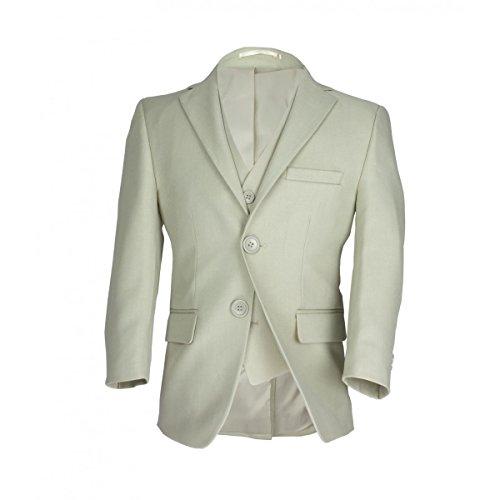 Jungen Formale Hochzeit Abschlussball Anzug im Beige, Kinder 3 Stück Beige Anzuge (Anzug Junge Im)