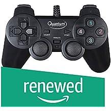 (Renewed) Quantum QHM7468-2V 2.0 PC Game Pad Controller (Black)
