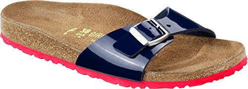 Birkenstock - Madrid Kids, Zoccoli Bambina Blu (Blau (DRESS BLUE  LS ROT)