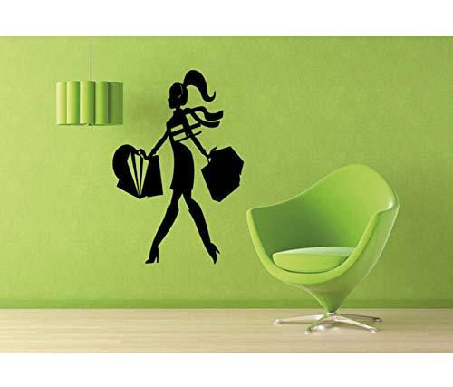 too Einkaufszentrum Mode Stil Trends Kostüm Kleid Shop Dekor FensterglasWandaufkleber 28x45 cm ()
