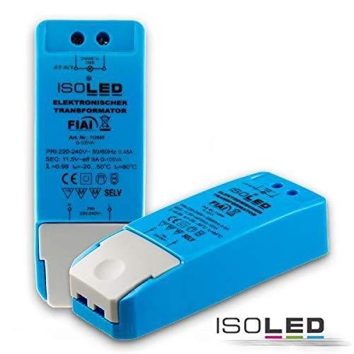Isoled 111269 LEDTrafo für LED Lampen, 12V 0-105VA, dimmbar -
