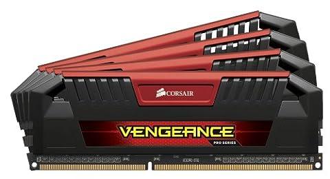 Corsair Memory CMY32GX3M4A2400C11R Vengeance Pro Red Arbeitsspeicher 32GB (2400MHz, 240-polig) DDR3 Quad-Kit