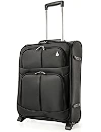 Aerolite 55x40x20cm Ryanair Maximum Allowance 42L Lightweight Travel Carry On Hand Cabin Luggage Suitcase with 2 Wheels - Also Approved for easyJet, British Airways.