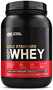 OPTIMUM NUTRITION GOLD STANDARD 100% Whey Protein Isolate Powder, Double Rich Chocolate, 2 LB, 29 Servings
