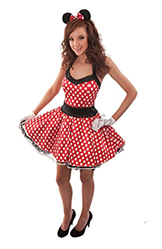 Minni Maus Minnie Mouse Disney Kostüm Fancy Dress Costume Karneval Halloween Size 38-40