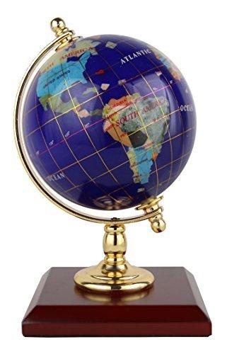Replogle Desktop Edelstein Globe–Handarbeit mit Halbedelsteinen, ideal für zuhause oder Büro Dekor, gepolsterten Geschenkbox, die, perfekte Geschenk für jeden Anlass. (10,2cm/10cm Durchmesser)